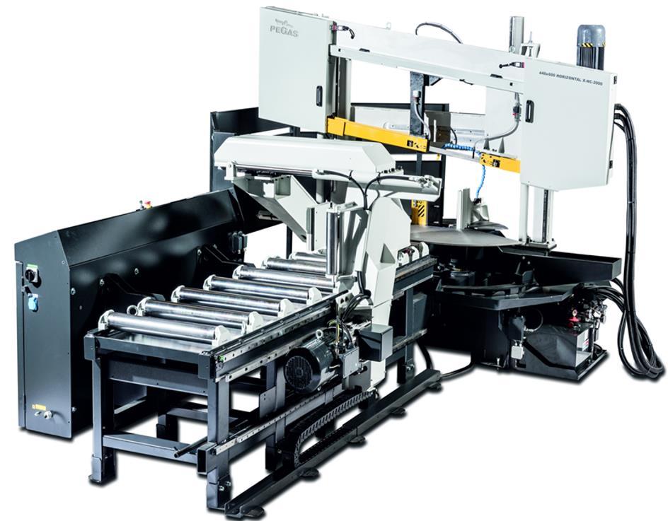 Двухколонный ленточнопильный станок с поворотной рамой  440×600 Horizontal X-NC-BS (ШВП) фото